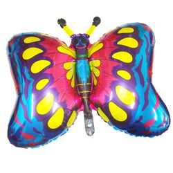 Balao-Metalizado-Flexmetal-borboleta-azul