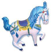 Balao-Metalizado-Flexmetal-Cavalo-Circus-Azul