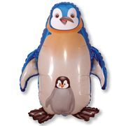 Balao-metalizado-Flexmetal-Pinguin-Azul