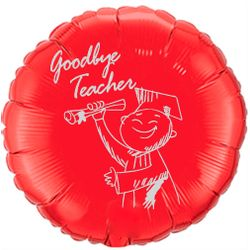 Balao-metalizado-Flexmetal-goodbye-teacher-vermelho