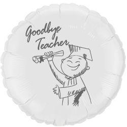 Balao-metalizado-Flexmetal-goodbye-teacher-branco