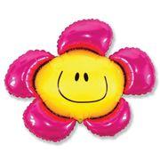 Balao-metalizado-Flexmetal-Flor-Smile-Pink