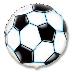 Balao-Metalizado-Flexmetal-Bola-de-Futebol-Preta