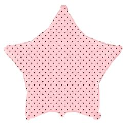 balao-metalizado-estrela-rosa-baby-bolinhas-marrom