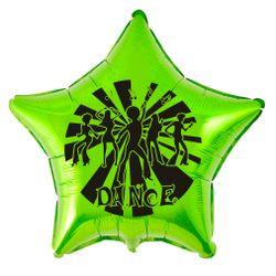 balao-metalizado-dance-estrela-verde-limao