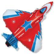Balao-Metalizado-Aviao-caca-vermelho-frente-Flexmetal