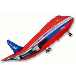 Balao-Metalizado-Aviao-Vermelho-Flexmetal