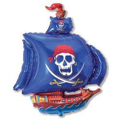 Balao-Metalizado-Flexmetal-Barco-Pirata-Azul