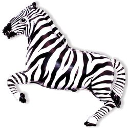 Balao-Metalizado-Flexmetal-Zebra-Preta