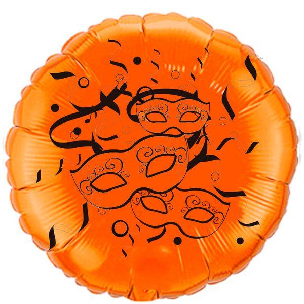 Balao-Metalizado-Flexmetal-carnaval-mascaras-laranja