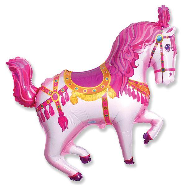 Balao-Metalizado-Flexmetal-Cavalo-Circus-Rosa