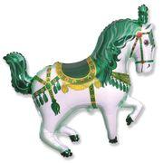 Balao-Metalizado-Flexmetal-Cavalo-Circus-Verde