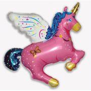 Balao-metalizado-Flexmetal-Unicornio-Magico-Rosa