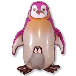 Balao-metalizado-Flexmetal-Pinguin-Rosa