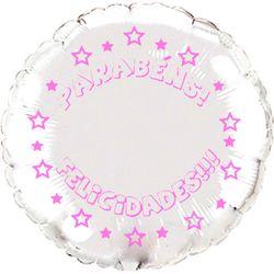 Balao-metalizado-Flexmetal-parabens-felicidades-redondo-prata-letra-pink