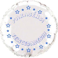 Balao-metalizado-Flexmetal-parabens-felicidades-redondo-prata-letra-azul