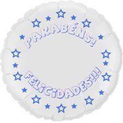 Balao-metalizado-Flexmetal-parabens-felicidades-redondo-branco-letra-azul