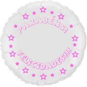 Balao-metalizado-Flexmetal-parabens-felicidades-redondo-branco-letra-pink