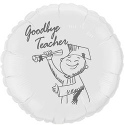 Balao-metalizado-Flexmetal-goodbye-teacher-branco