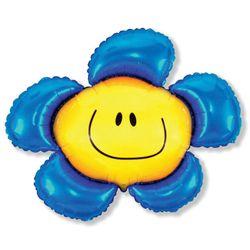 Balao-metalizado-Flexmetal-Flor-Smile-Azul