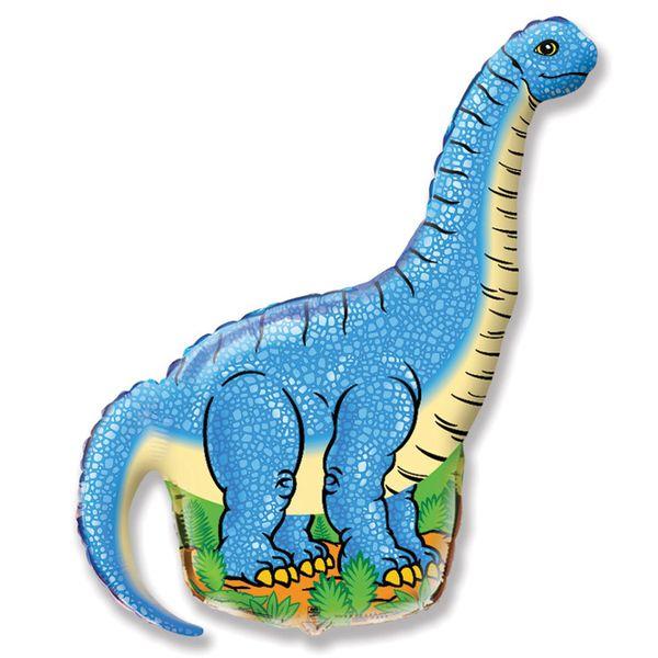 Balao-Metalizado-Flexmetal-Diplodocus-Azul