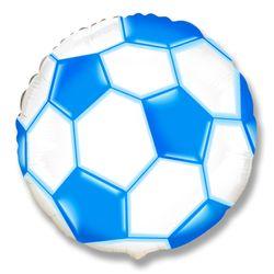 Balao-Metalizado-Flexmetal-Bola-de-Futebol-Azul