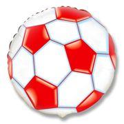 Balao-Metalizado-Flexmetal-Bola-de-Futebol-Vermelha