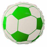 Balao-Metalizado-Flexmetal-Bola-de-Futebol-verde