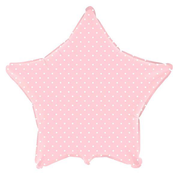 balao-metalizado-estrela-rosa-baby-bolinhas-brancas
