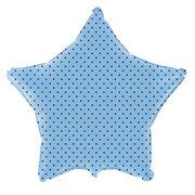balao-metalizado-estrela-azul-baby-bolinhas-marrom