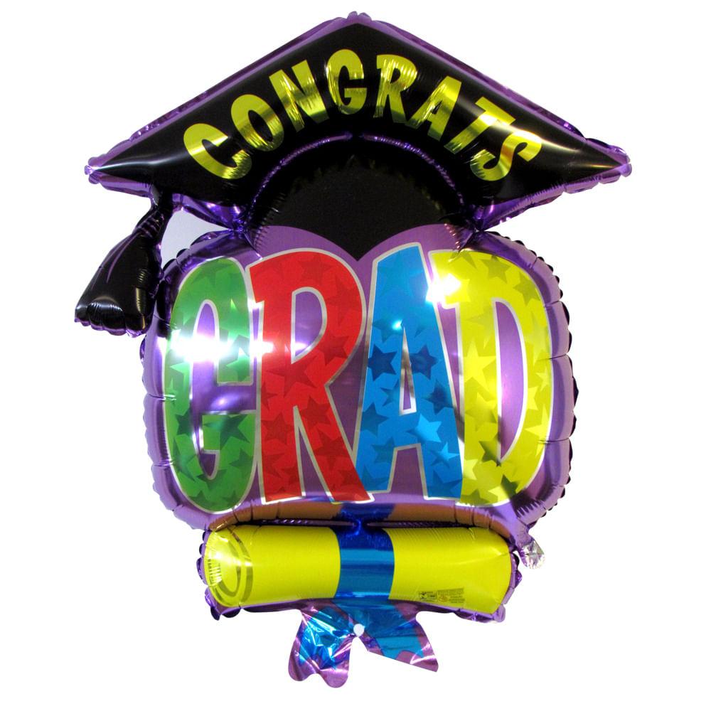 balão metalizado tri capa grad congrats grabo intl megatoon