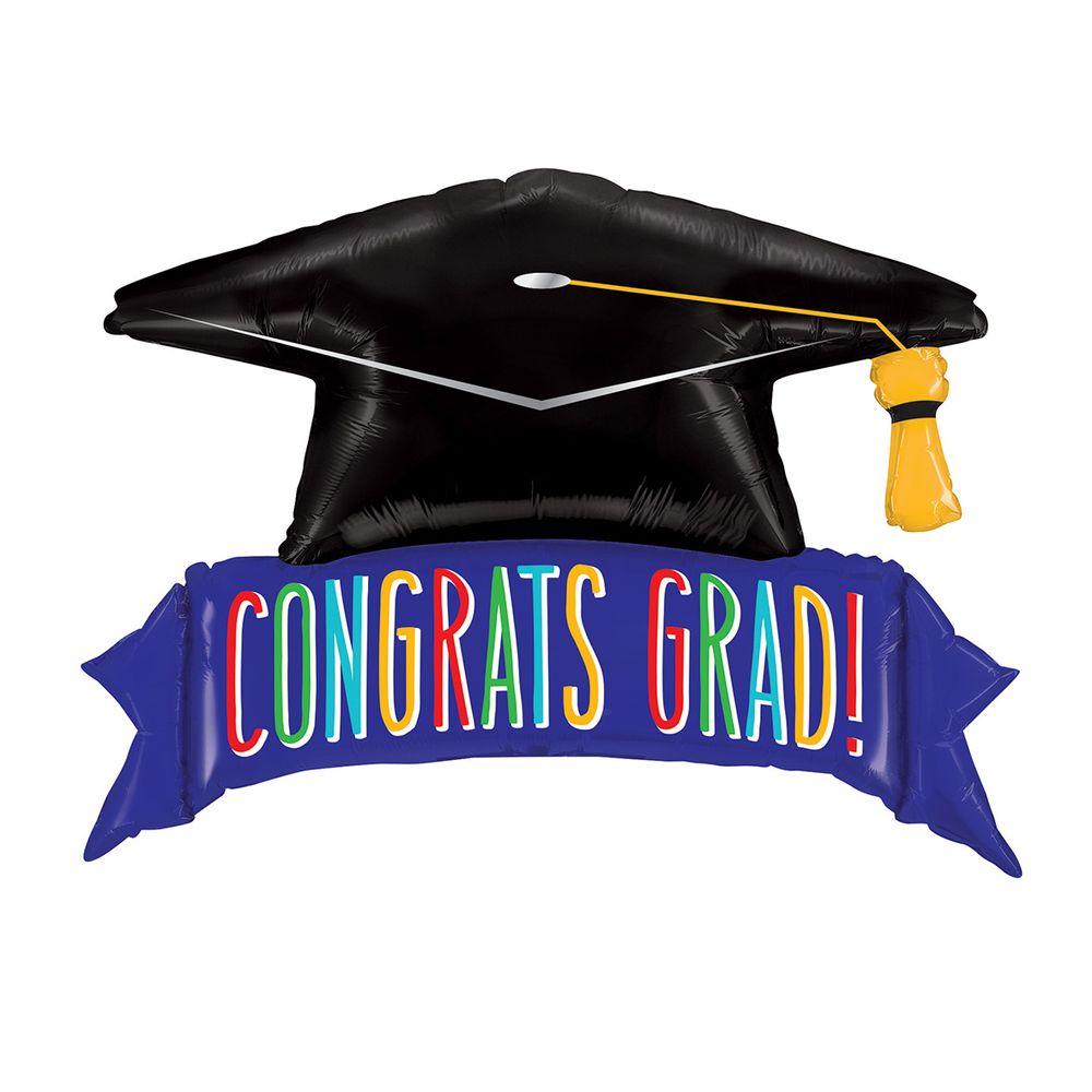 balões metalizados congrats grad banner grabo intl megatoon