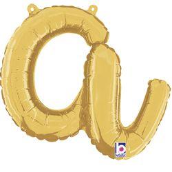 balao-metalizado-em-formato-de-letra-a-cursiva-dourada-grabo-34701G-Letter-A-Script-Gold