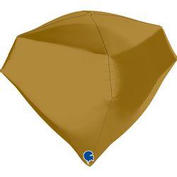balao-metalizado-em-formato-de-diamante-grabo-742S00G-Gem-18inc-Satin-Gold-4D