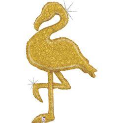 35808GH-Gold-Glitter-Flamingo